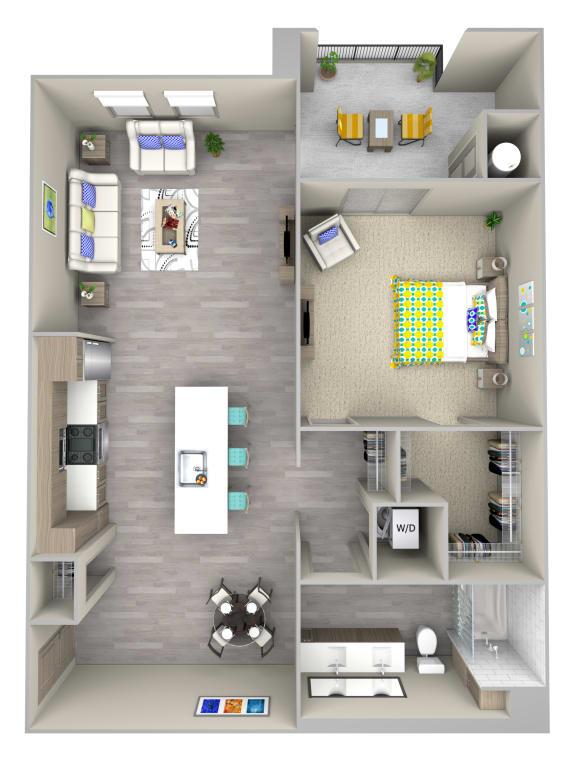 shore a2.1 Floor Plan at Las Positas Apartments, Camarillo, CA, 93010