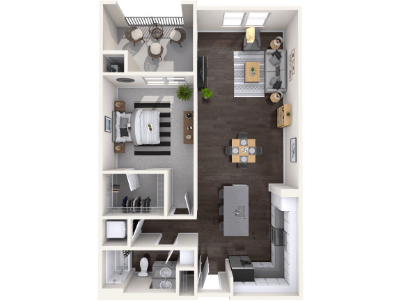 A3 Floor Plan at Mitchell Place Apartments, California
