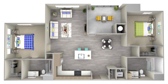 dune 3.1 Floor Plan at Las Positas Apartments, Camarillo, CA