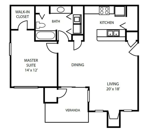 Floor Plan 4 at Pallas Townhomes & Apartments
