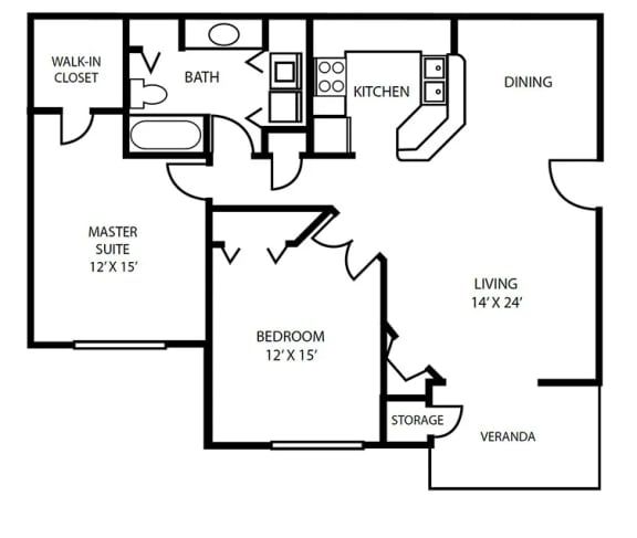 Floor Plan 18 at Pallas Townhomes & Apartments