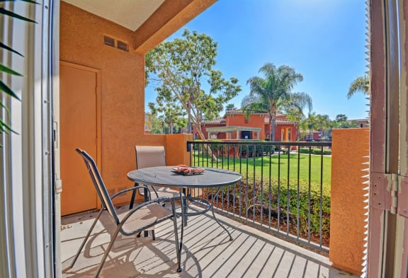 Private Patio/Balcony, at Missions at Sunbow Apartments, 5540 Ocean Gate Lane, CA