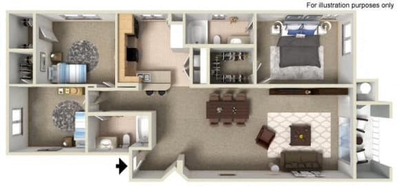 G Floor Plan, at Missions at Sunbow Apartments, Chula Vista, CA