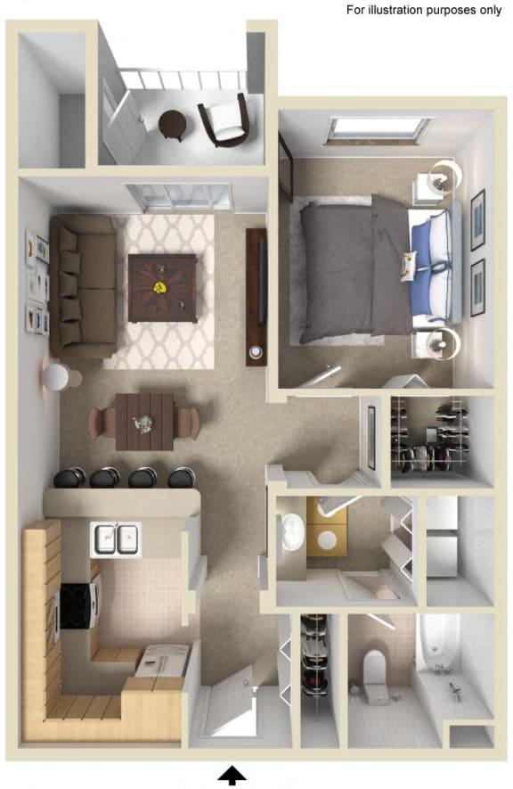 Pinnacle Floor Plan, at Greenfield Village, 5540 Ocean Gate Lane