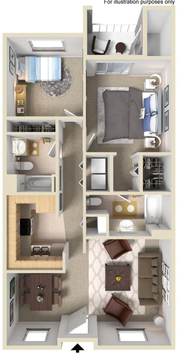 Newport Floor Plan, at Greenfield Village, San Diego, CA