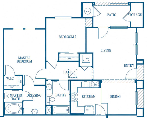 Royale Floor Plan, at Greenfield Village, CA, 92154