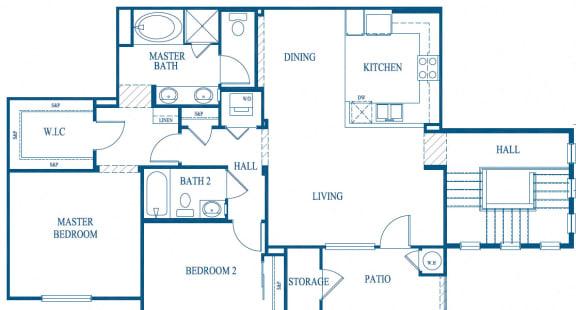 Cabrillo Floor Plan, at Greenfield Village, 5540 Ocean Gate Lane, CA
