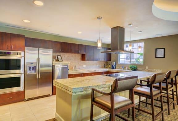 Kitchen with Breakfast Bar, at Greenfield Village, 5540 Ocean Gate Lane, CA