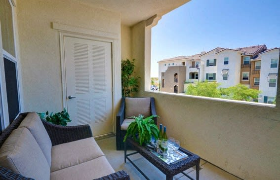 Oversized Private Patio or Balcony, at Rosina Vista, 1551 Summerland Street, CA