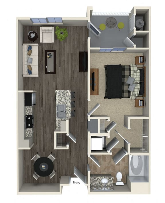 A1 Floor plan, at SETA, La Mesa, California