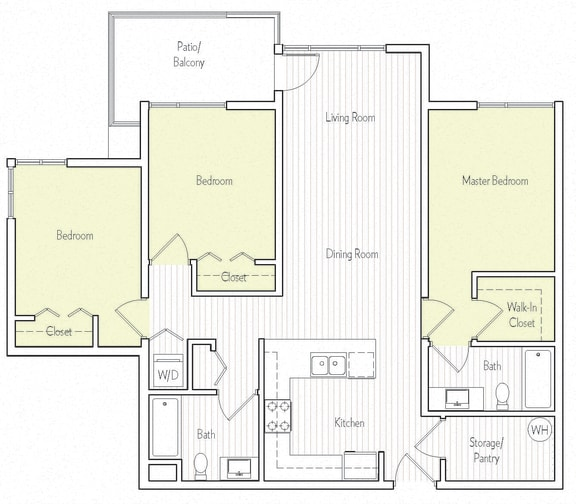 C-1 Floor plan, at Parc One, Santee, CA