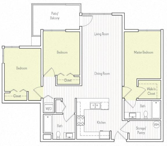 C-1 Floor planat Parc One, 320 Town Center Pkwy