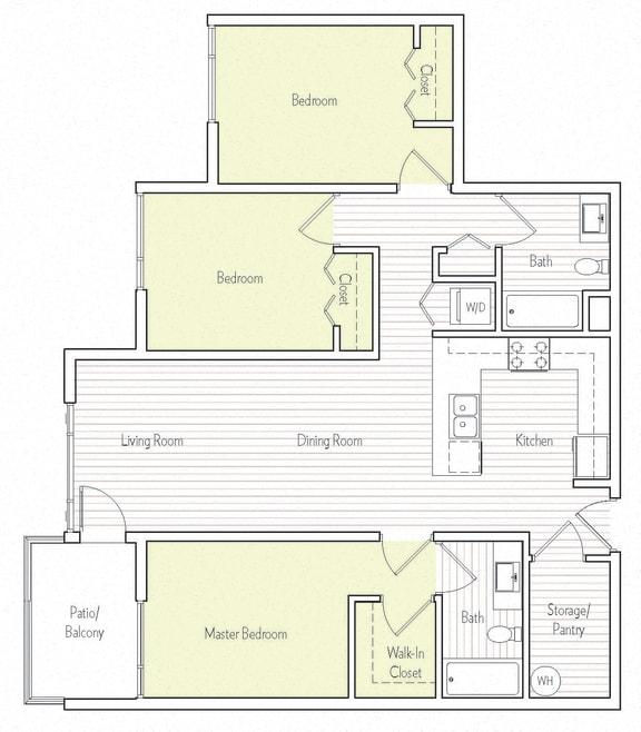C-5 Floor plan, at Parc One, Santee, 92071