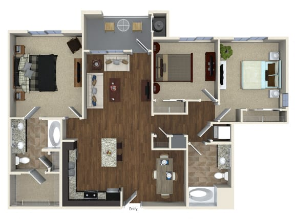C1 Floor plan, at SETA, La Mesa, California