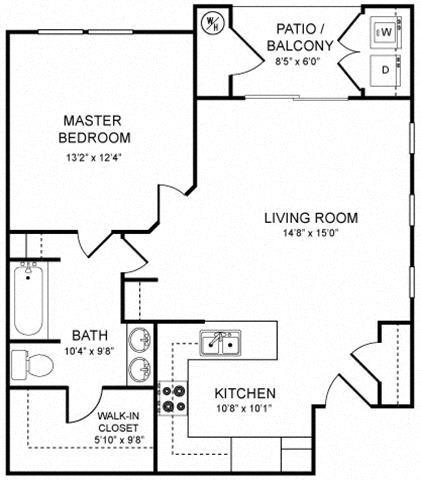 A1 Floor plan, at Rosina Vista, Chula Vista, California