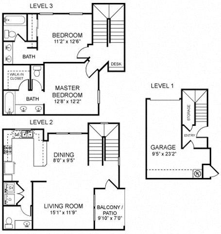 A4 Floor plan, at Rosina Vista, 1551 Summerland Street