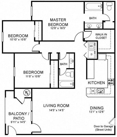 A5 Floor plan, at Rosina Vista, Chula Vista, 91913