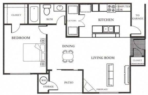 B- Francisco 809 SF Floor Plan, at Casoleil, CA, 92154
