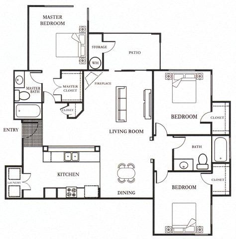 E- Lauritz 1,295 SF Floor Plan, at Casoleil, San Diego, 92154