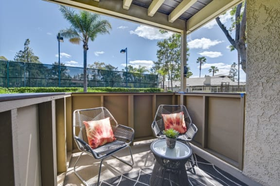 Large Private Patio and Balcony, at Park Pointe, El Cajon, CA