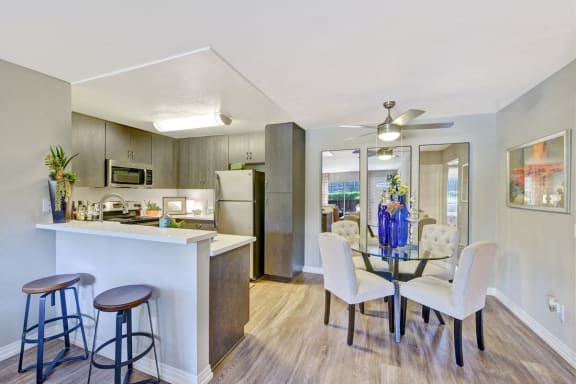Breakfast Bars with Quartz Countertops, at Park Pointe, 2450 Hilton Head Place