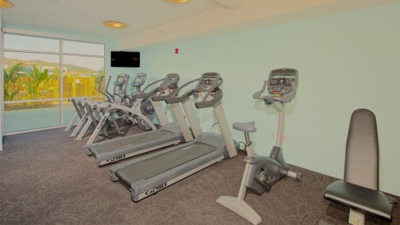 Fully Equipped Fitness Center with Strength and Cardio Equipment, at Parc One, Santee, CA