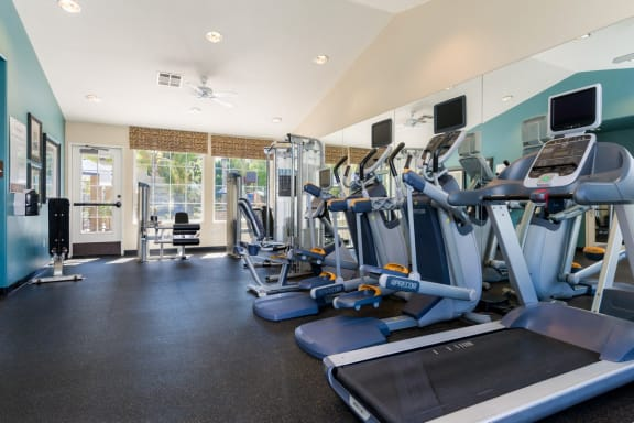 Fully Equipped Fitness Center at The Landing, San Diego, California