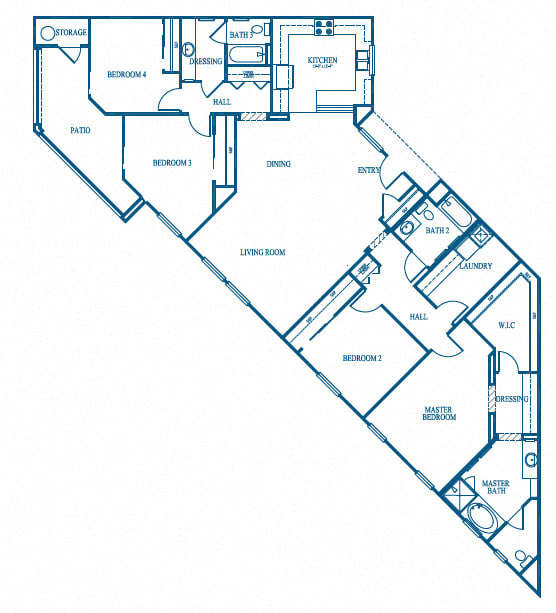 Sea Breeze Floor Plan, at Greenfield Village, 5540 Ocean Gate Lane, CA