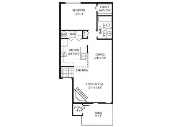 Floor Plan  HV_1 Bedroom A