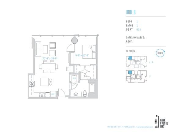 Floor Plan  Unit B
