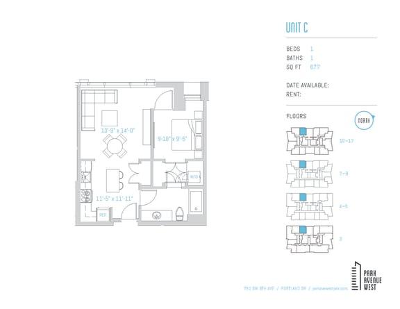 Floor Plan  Unit C
