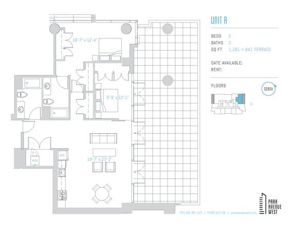 Floor Plan  Unit R