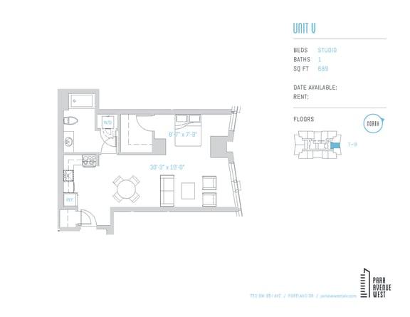 Floor Plan  Unit V