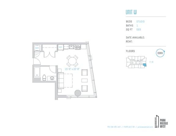 Floor Plan  Unit W