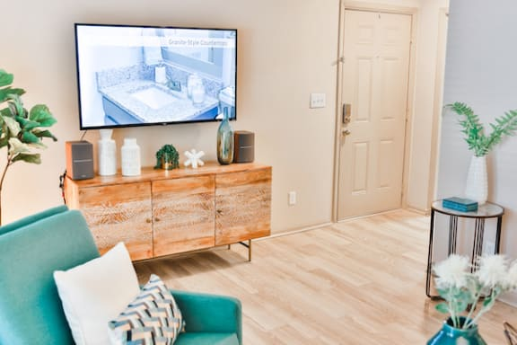 luxurious hardwood-inspired flooring in apartment home at Berry Falls Apartments, Alabama, 35216