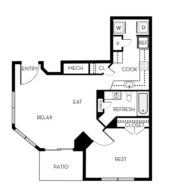 Adams II Barrington Park 3 bedroom 2 and a half baths floor plan apartment in Manassas VA