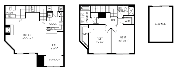 Filmore Barrington Park 2 bedroom 2 and a half baths floor plan apartment in Manassas VA