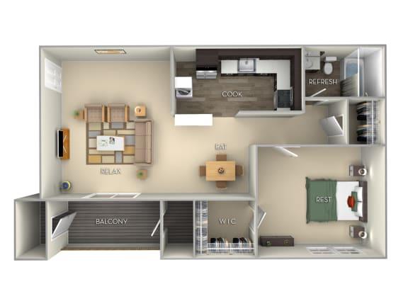 Franklin Middletown Valley 1 bedroom 1 bath furnished