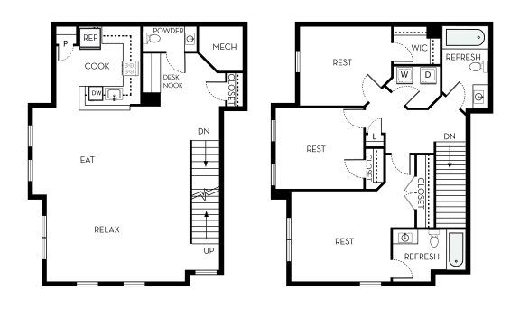 McKinley Barrington Park 3 bedroom 2 and a half baths floor plan apartment in Manassas VA