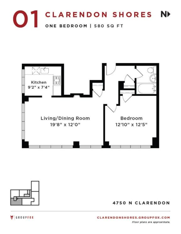 Clarendon Shores - One Bedroom