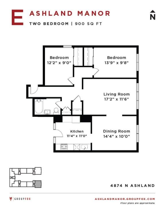 Ashland Manor - Floor plan E