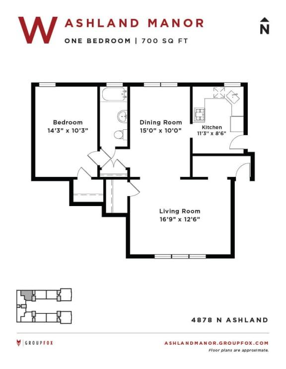 Ashland Manor - Floor plan W
