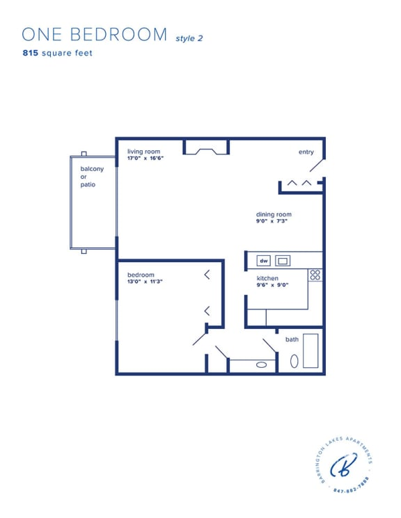 Barrington Lakes Apartments - One Bedroom