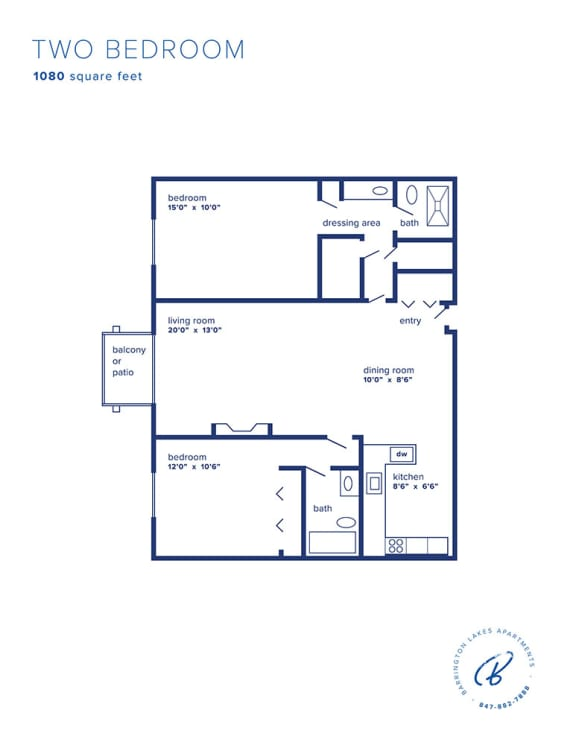 Barrington Lakes Apartments - Two Bedroom
