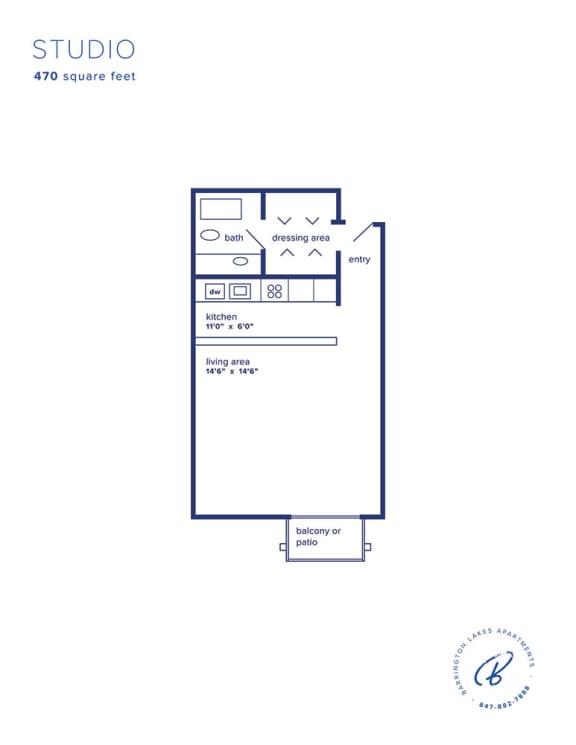 Barrington Lakes Apartments - Studio
