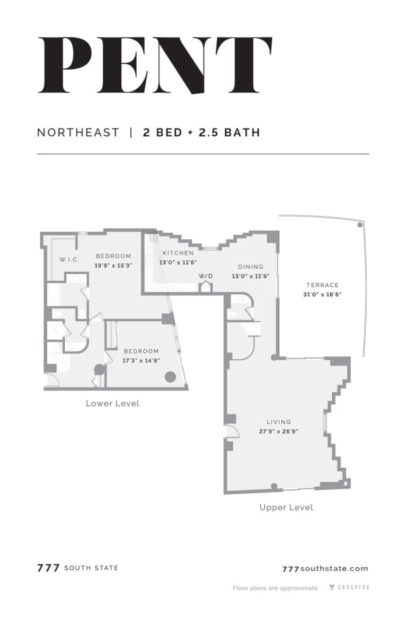 777 South State Penthouse Apartment South loop Chicago