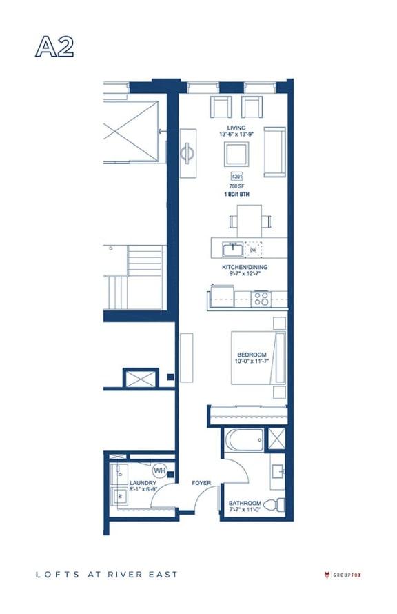 Lofts at River East - A2