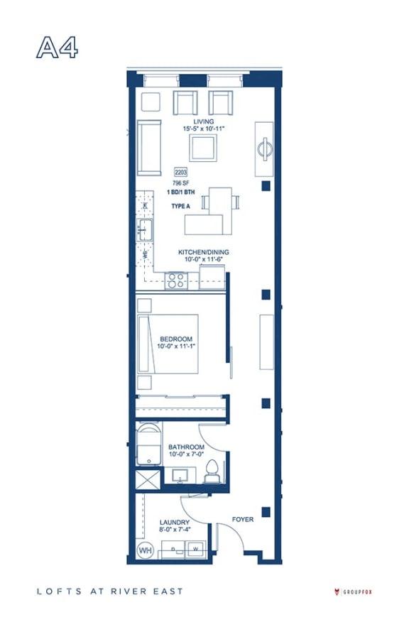 Lofts at River East - A4