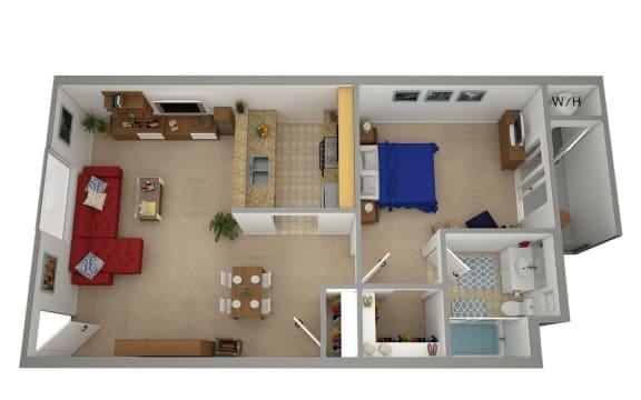 Floor Plan  CA SYLMAR ASTORIA MOUNTAIN VIEW Rental Apartments