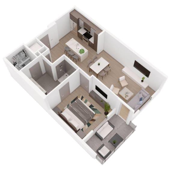 A FOUR Floor Plan at The Q Variel, Woodland Hills, California